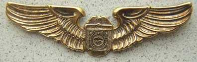 Ohio State Patrol Sterling Silver Aviation Unit Badge with GP Wing