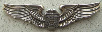 Ohio State Patrol Sterling Silver Aviation Unit Badge Wing