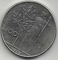 1978 Italy 100 Lire Coin