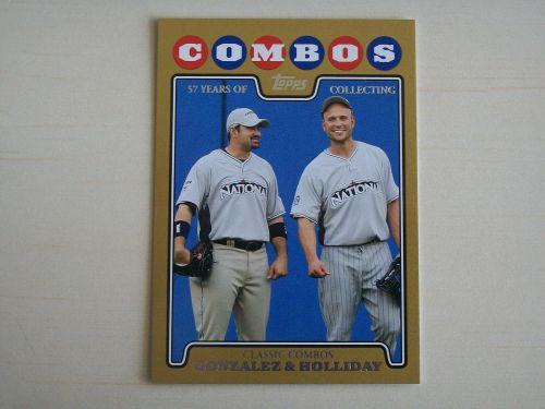 2008 Topps Update GOLD #UH142 Adrian Gonzalez & Matt Holliday /2008
