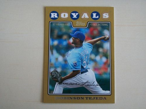 2008 Topps Update GOLD #UH144 Robinson Tejeda ROYALS /2008