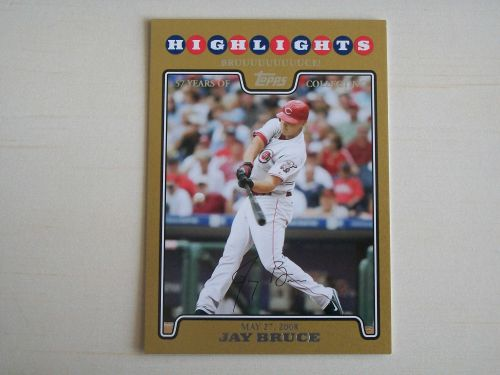 2008 Topps Update GOLD #UH155 Jay Bruce REDS /2008