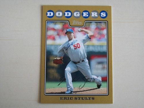 2008 Topps Update GOLD #UH162 Eric Stults DODGERS /2008