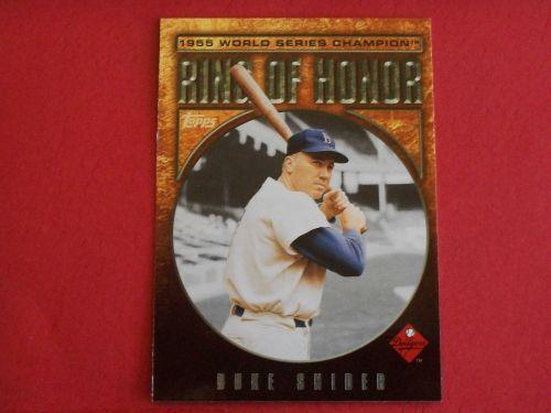 2008 Topps Update Ring of Honor Duke Snider DODGERS