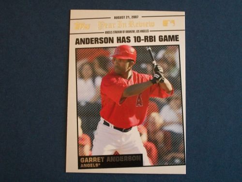 2008 Topps Update Year In Review #YR141 Garret Anderson ANGELS