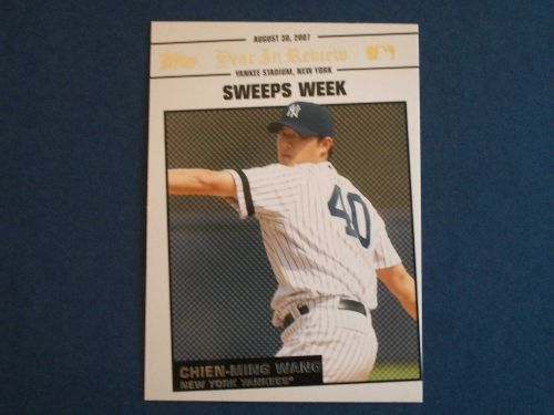 2008 Topps Update Year In Review #YR149 Chien-Ming Wang YANKEES