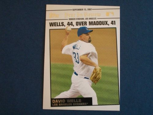 2008 Topps Update Year In Review #YR163 David Wells DODGERS