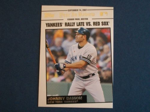 2008 Topps Update Year In Review #YR164 Johnny Damon YANKEES