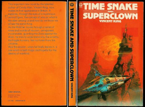 Vincent King TIME SNAKE AND SUPERCLOWN 1st Orbit -FINE 1976 science fiction