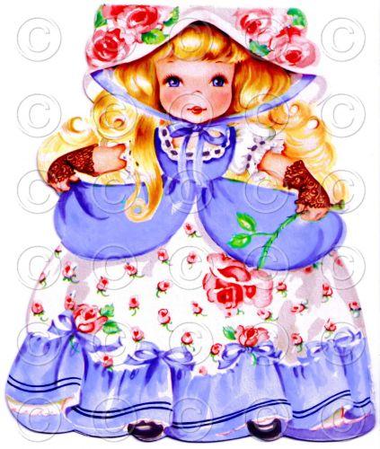 Sleeping Beauty Fairy Tale Pretty Girl Doll Card Vintage Digital Image