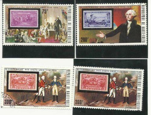 Upper Volta #365-7a,C209-10(Bicentennial) Set