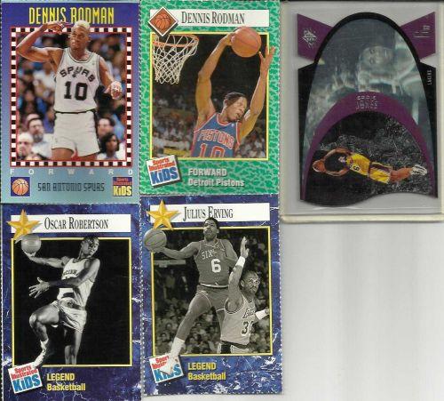 Collector Basketball Cards Rodman Erving Robertson + Eddie Jones Hologram