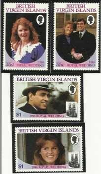 British Virgin Island 1986 Royal Wedding Stamps Mint