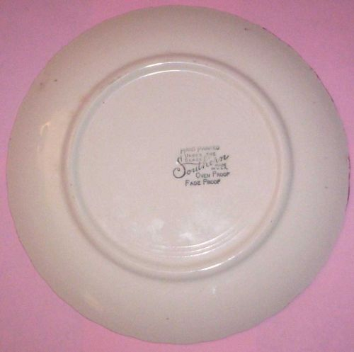 Blue Ridge Southern Pottery-- Red Nocturne Luncheon Plate