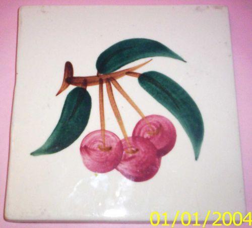 Stangl Fruit (Cherry) Square Trivet