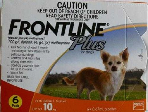 Frontline Plus Small Dogs up to 22lbs 0-22lbs Merial 6 Months