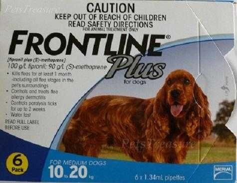 Frontline Plus for Dogs 23-44lbs (10-20kg) NIB