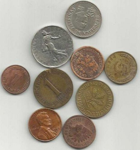 COIN LOT 3 Germany, US, Austria, France, Phillipines