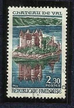 FRANCE complete single MNH 1966 CASTLE OF VAL