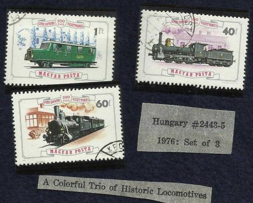Hungary 1976 # 2443-5 Trains/Locomotives