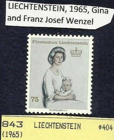LIECHTENSTEIN, 1965, Gina and Franz Josef Wenzel - RARE!