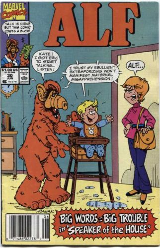 Alf Marvel Comic Book # 30 June 1990 Talk is Cheap, But this Comic is $1