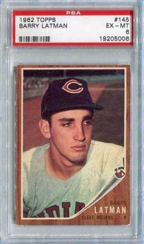 1962 Topps #145 Barry Latman Cleveland Indians PSA EX-MT 6