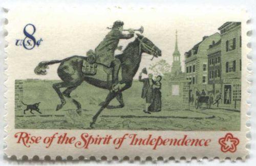 1973 American Bicentennial Issue 8c Post Rider Spirit of Independence