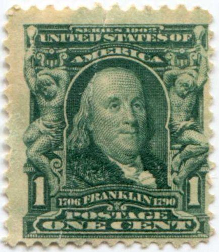 Old Ben Franklin Motors >> 1903 1c Ben Franklin Series 1902 Unused US Postage Stamp For Sale - Item #11200
