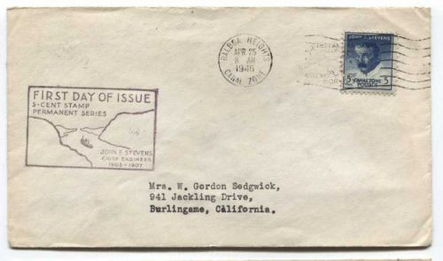 1946 5c Permanent Series Postage April 25 Canal Zone Balboa Heights Canceled