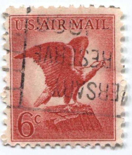 "1963 6c Bald Eagle upside down cancellation ""Anniversary...Reserve...1966"""