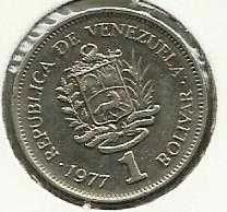 1977 VENEZUELA Coin 1 Bolivar