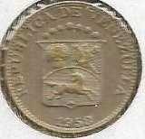 1958 VENEZUELA Coin 5 Centimos
