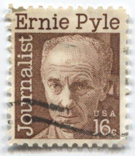 1971 16c ErniePyle Great Americans Series Cancelled Good Used Stamp