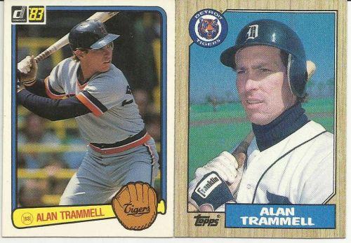 1983 Donruss : Alan Trammell #207 & 1987 Topps #687 Alan Trammell Detroit Tigers