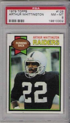 1979 Topps Football #128 Arthur Whittington PSA NM-MT 8 Oakland Raiders