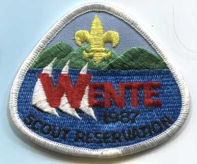 1987 Wente Scout Reservation CA Souvenir Embroidered Patch Boy Scouts