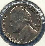 1960 US Jefferson Nickel Proof