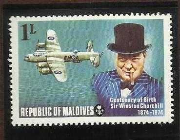 Maldive Is.1974 CENTENARY OF BIRTH CHURCHILL SG535 MNH