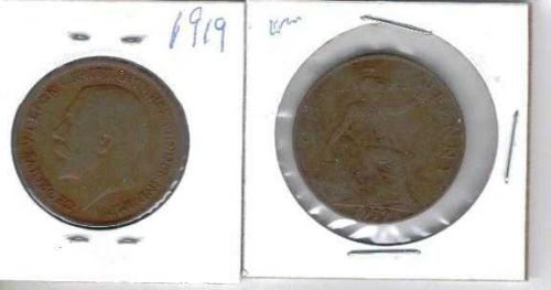 1919 Great Britain Copper Penny