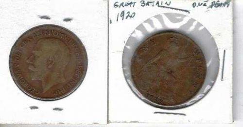 1920 Great Britain Copper Penny