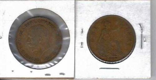 1929 Great Britain Copper Penny
