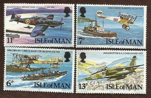 [ST3030] ISLE OF MAN 1978 nice set VF MNH Planes