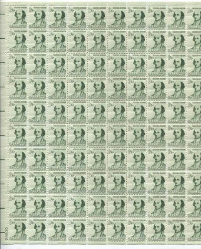 1967 1 1/4c Albert Gallatin Prominent American Series Mint Sheet Complete Stamps