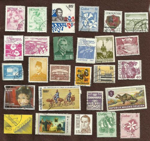 Global Mix 1 Collection of 27 stamps Worldwide