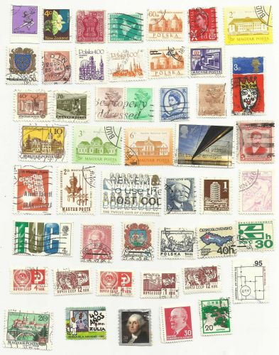 Global Mix 2 Collection of 50+ stamps Worldwide