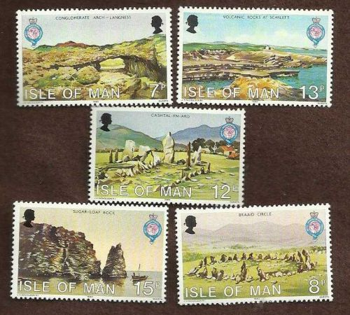 h988 Isle of Man 1980 Geography volcano volcanic rocks prehistoric sites