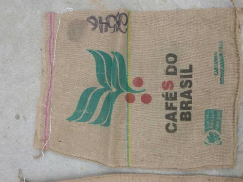 Burlap sacks - large, used once (to hold coffee beans)