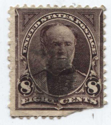 1893 8c U.S. 1890-93 Regular Issue 8¢ Sherman Black Lined Upper Corner Triangle