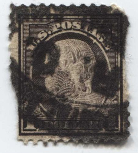 1912 $1 Dollar Ben Franklin Perf 12 Used Good Choice Rare Stamp Look!